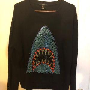 Forever 21 Shark Bling Sweatshirt - Size Large